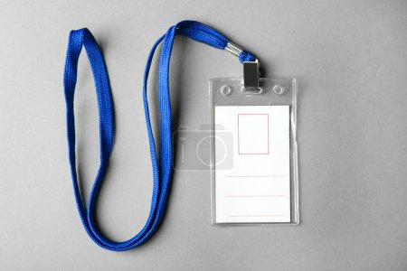 Blank badge with lanyard
