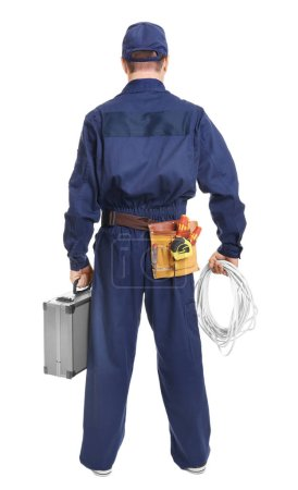 Electrician with tool box