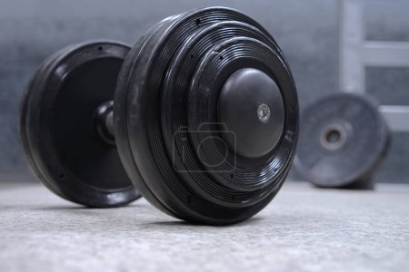 Dumbbell with weight plates