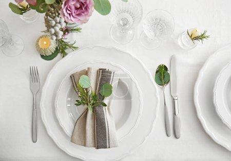 table served for wedding dinner