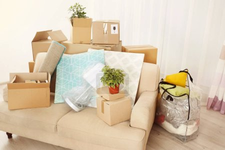 Packed household stuff