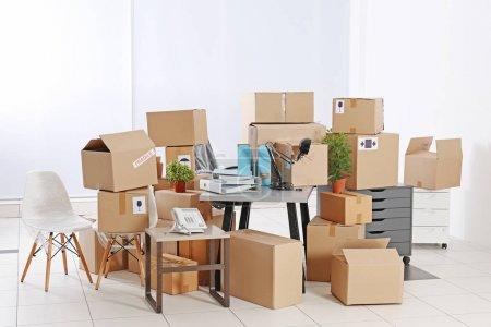 Unpacking cardboard boxes