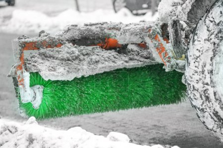 Snow plow outdoors