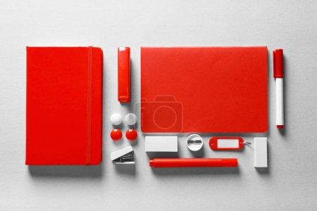 Red stationery set