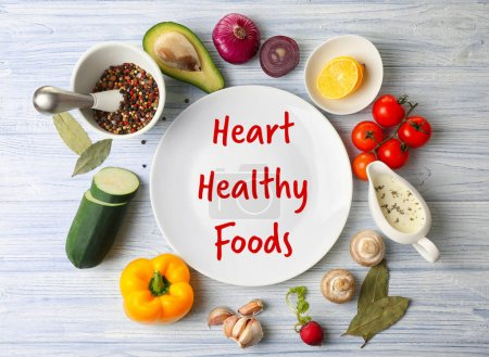 Diet for healthy heart concept.