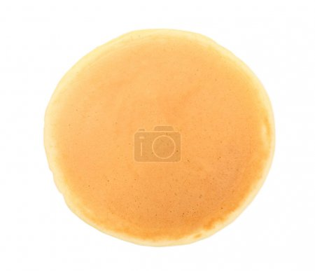 Tasty pancake isolated on white...