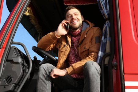 Driver talking by mobile phone