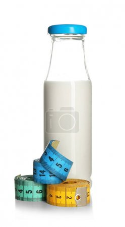 Bottle and measuring tapes