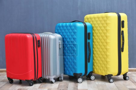 Packed travel suitcases