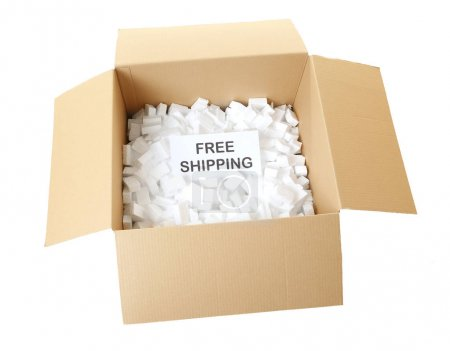 Card with text FREE SHIPPING