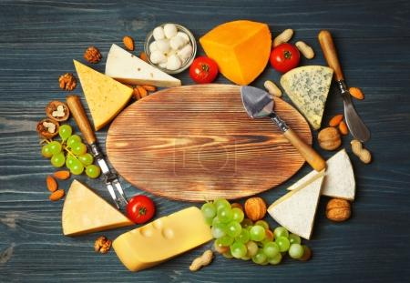 Variety of cheese and nuts