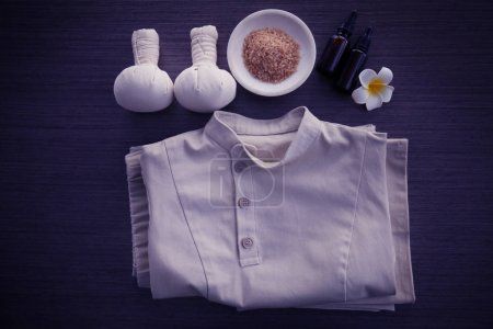 Spa uniform and supplies