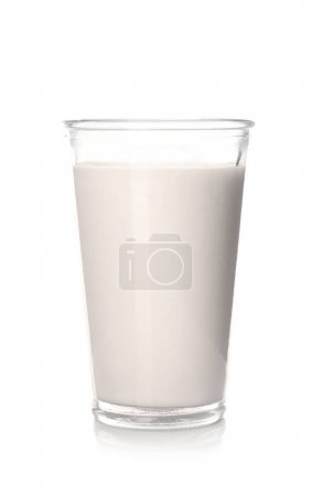 Glass of tasty milk