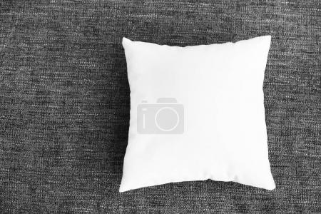 Photo for Blank soft pillow on color background - Royalty Free Image