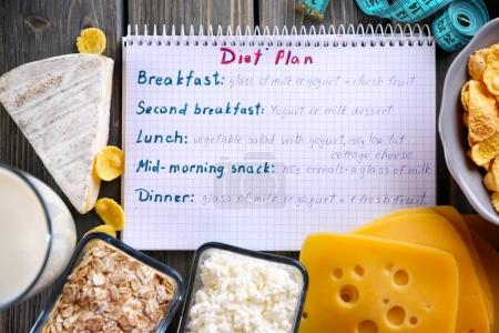 dairy products and diet plan