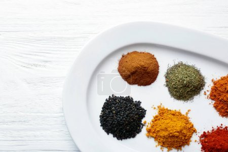 mix of different spices