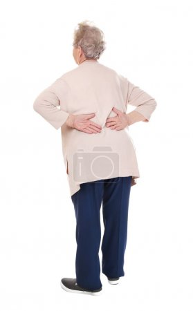 Elderly woman suffering from backache