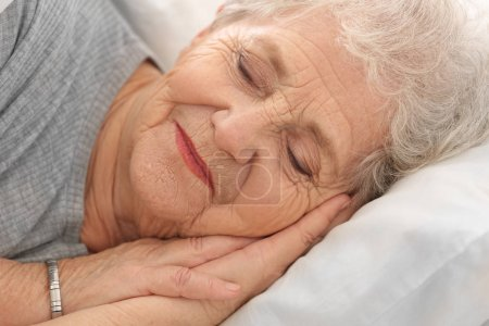 Elderly woman sleeping