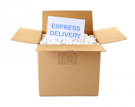 Card with text EXPRESS DELIVERY