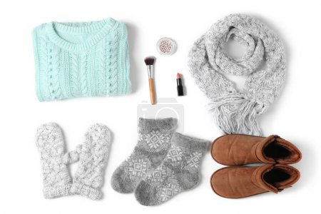 Set of female stylish clothes