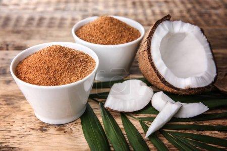 Bowls of coconut sugar
