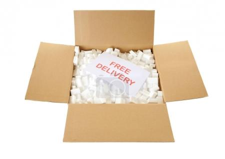 Card with text FREE DELIVERY