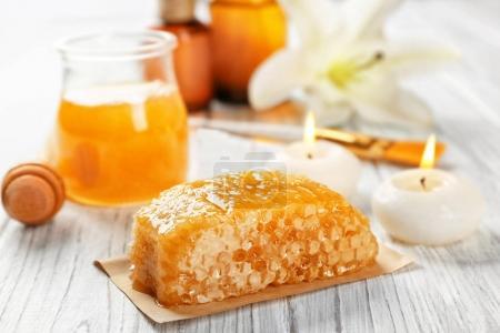 Beautiful honey spa composition