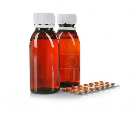 Bottles with medicine and pills