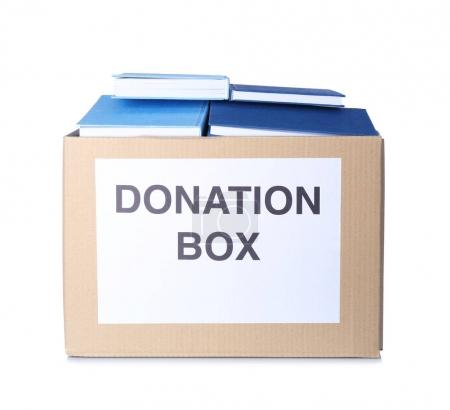 Donation box with books