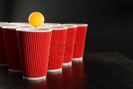 Cups for game Beer Pong