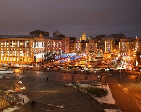 Colorful night city lights