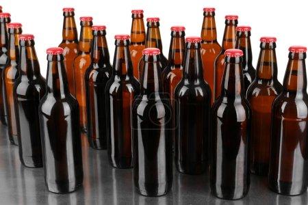 Bottles of alcohol beer