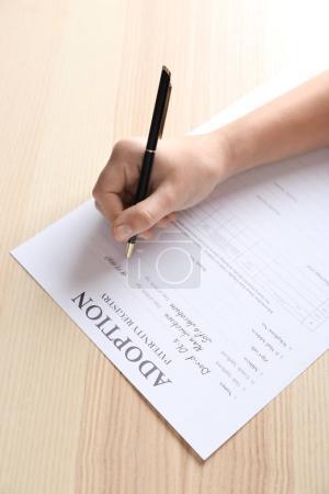 filling in adoption paternity registry