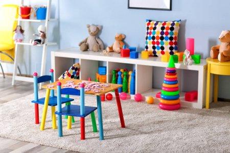 Vivid kids room view