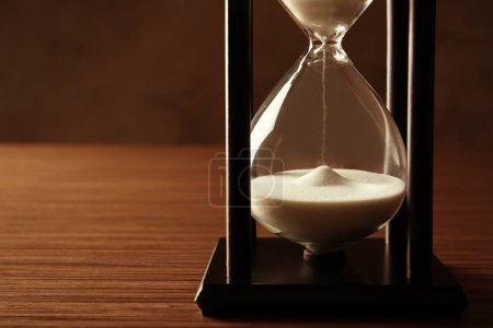 hourglass with white sand