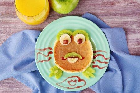 Funny pancake for kids breakfast