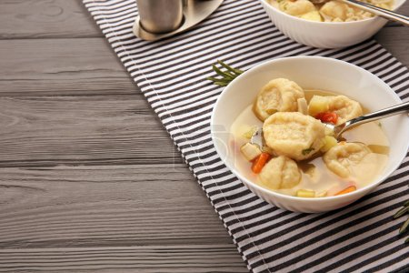 Delicious chicken and dumplings