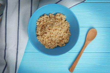 sprouted organic white quinoa grains