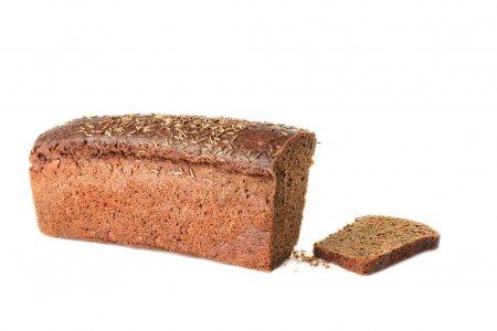 Dark bread and slice