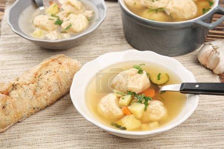 Delicious chicken and dumplings
