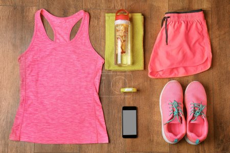 Fitness tracker and sports clothing
