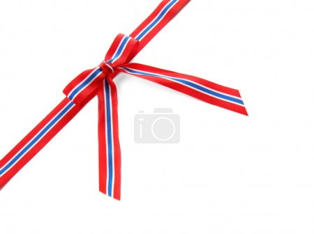 Ribbon bow in colors of Thai flag