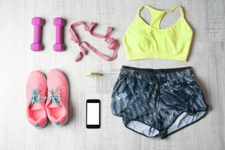 Clothes and fitness accessories
