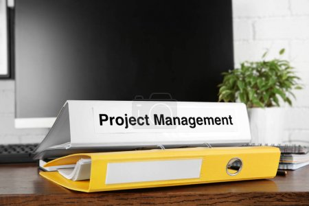 Folder with label PROJECT MANAGEMENT