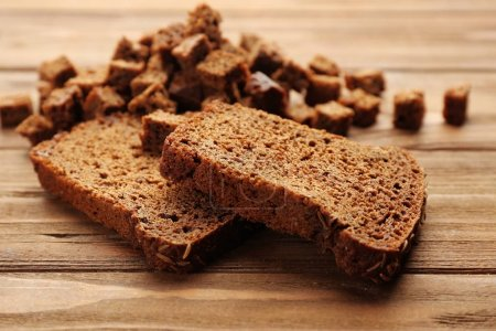 Sliced rye bread with seeds