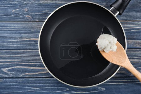 Spoon with coconut oil