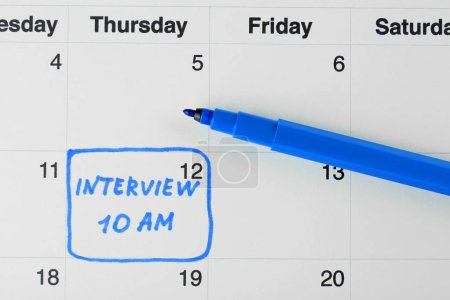 Job interview date