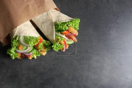 Delicious kebab sandwiches
