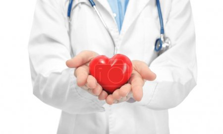 doctor with small red heart