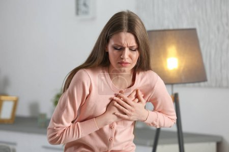 Girl having a heart attack at home